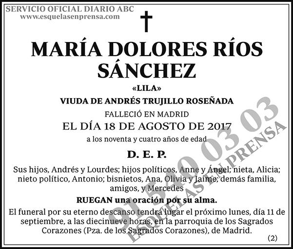 María Dolores Ríos Sánchez